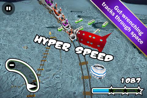 Screenshot Lunar 3D Rollercoaster Rush FREE
